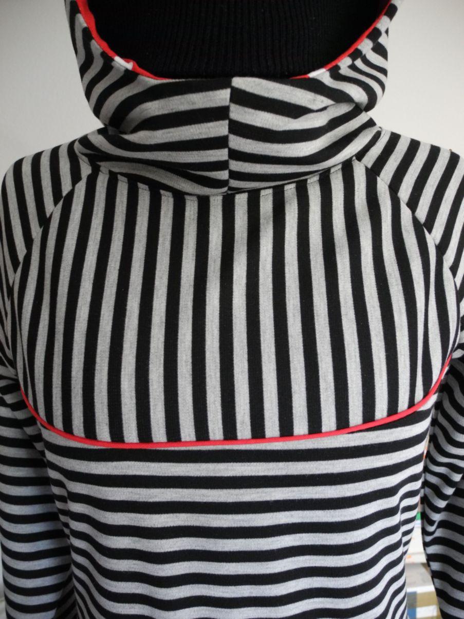 Hoodie-Kleid und Shirt – Schnittmuster & Bildnähanleitung Frieda Gr ...