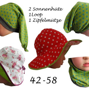 Kinder-/Sommermützenset Amalia